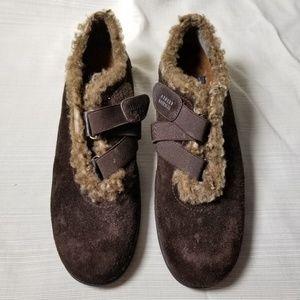 Stuart Weitzman Brown Suede Faux Fur Shoes 7.5